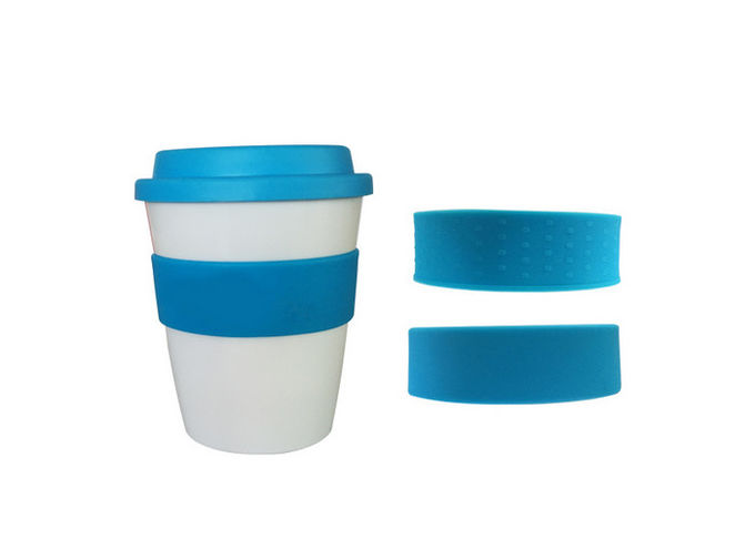 Multi Color Silicone Drinking Cups / Disposable Silicone Tea Cups With Lid