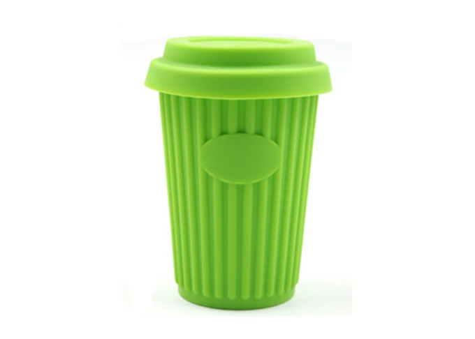 Fashionable Silicone Drinking Cup Heat Resistant Silicone Coffee Mug With Lid