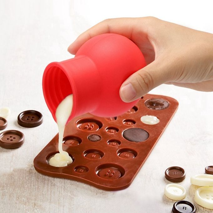 Flexible Silicone Kitchen Utensils , Silicone Chocolate Melting Pot For Chocolate / Butter