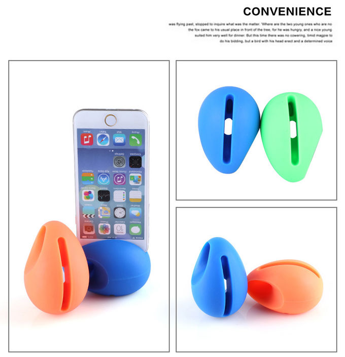 Cute Silicone Phone Accessories Egg Shaped Silicone Phone Amplifier Dirt Resistant