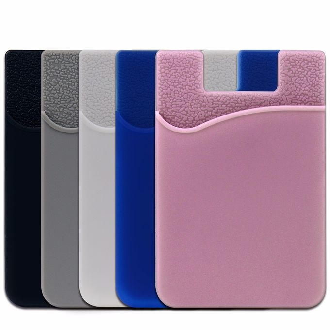 OEM / ODM Silicone Phone Accessories Adhesive Silicone Custom Cell Phone Wallet