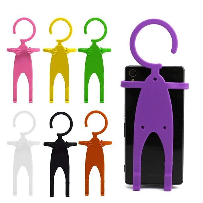 Durable Silicone Phone Accessories Human Shaped Silicone Mobile Phone Holder