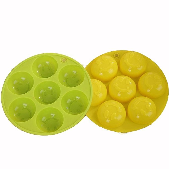 Custom Novelty Smile Face Shaped Silicone Ice Tray Molds For Home OEM / ODM