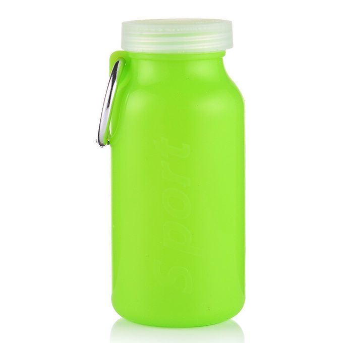 Heat Resistant Silicone Travel Bottles , BPA Free Collapsible Silicone Water Bottle